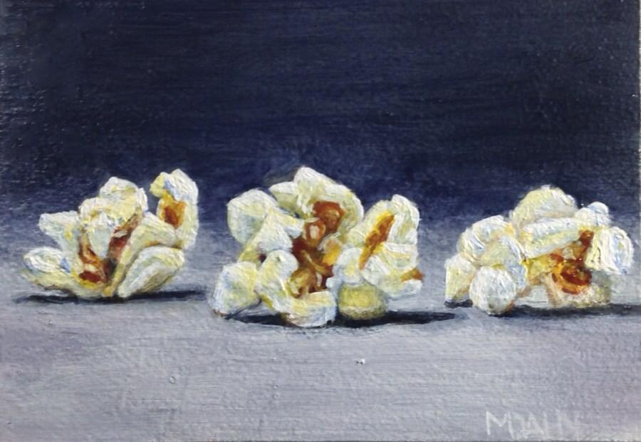 """popcorn"" original fine art by Mary Dahn"
