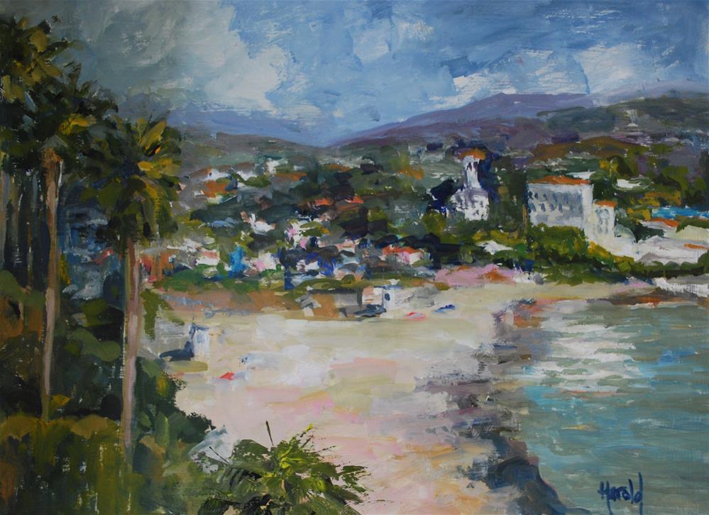 """Main Beach, Laguna"" original fine art by Deborah Harold"