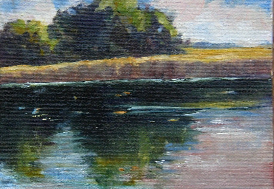 """Pearson Pond, Union County, NC"" original fine art by Connie Snipes"