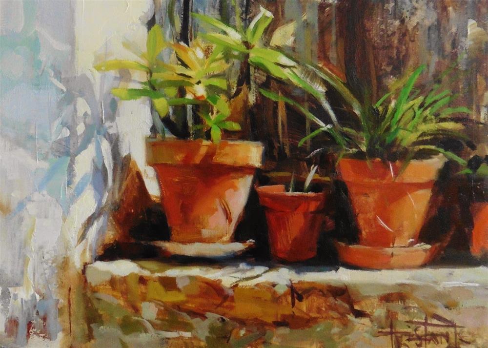 """""""Pots"""" original fine art by Víctor Tristante"""