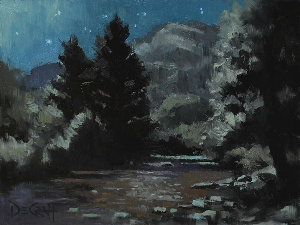 """River of Dreams"" original fine art by Larry DeGraff"