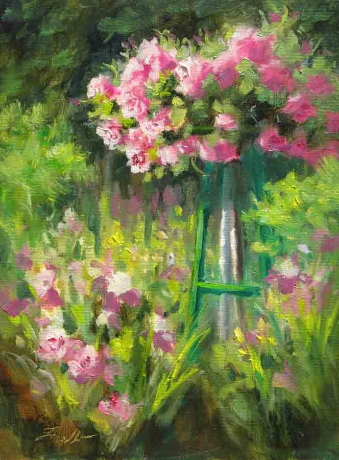 """Rose Arbor II"" original fine art by Pat Fiorello"