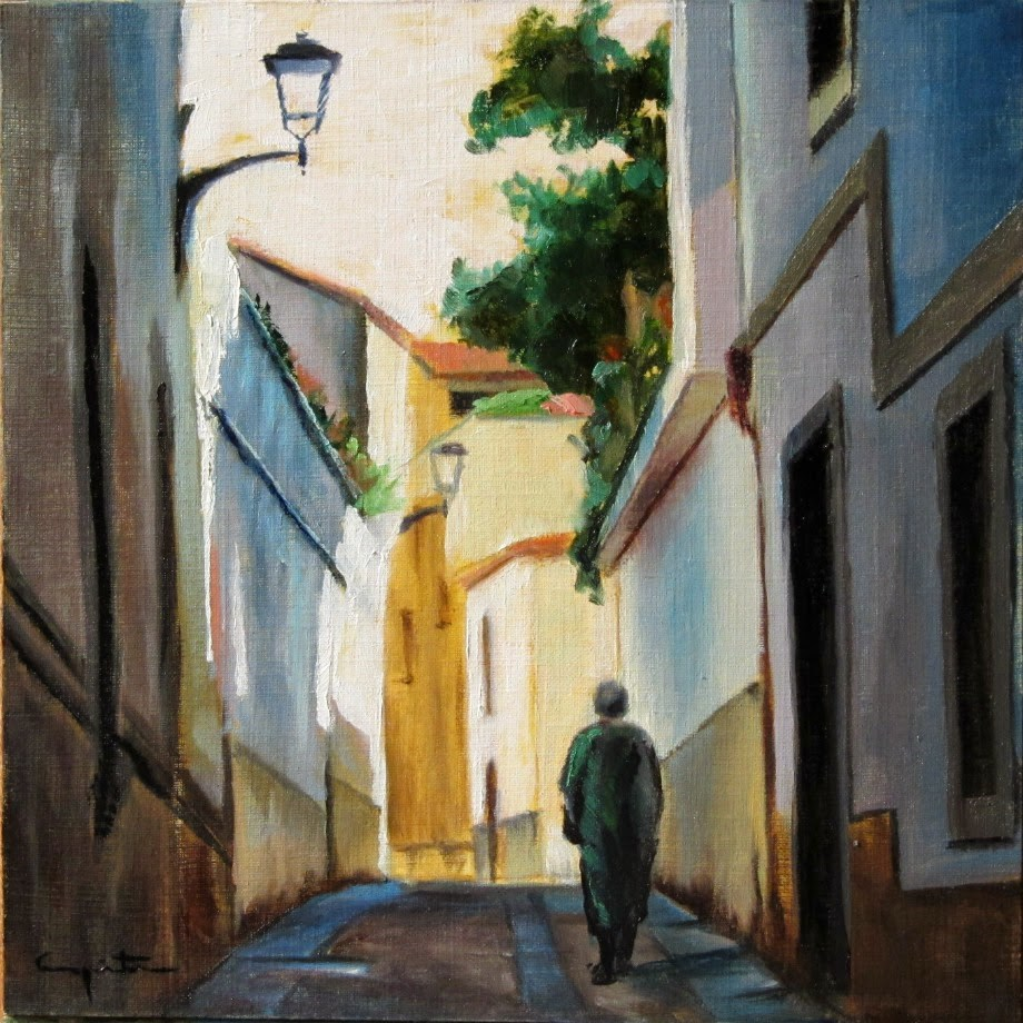 """El paseo"" original fine art by Eduardo Carpintero"
