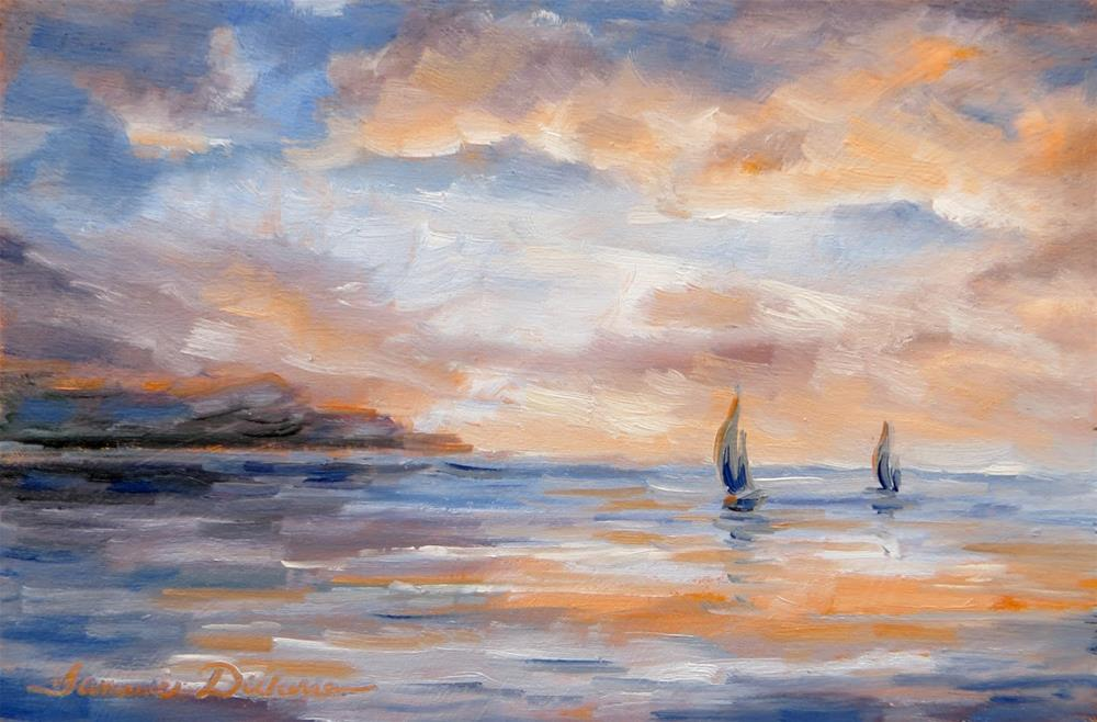 """Sails on the Horizon"" original fine art by Tammie Dickerson"