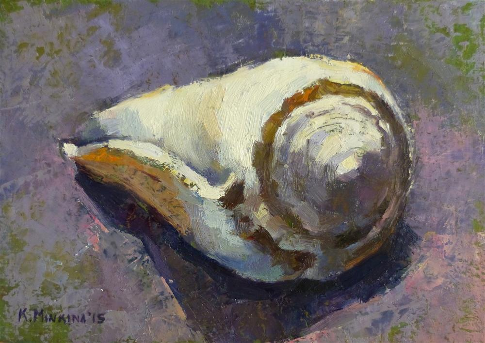 """Shell #1"" original fine art by Katya Minkina"
