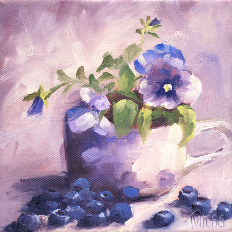 """Purple Somber 2"" original fine art by Lori Twiggs"