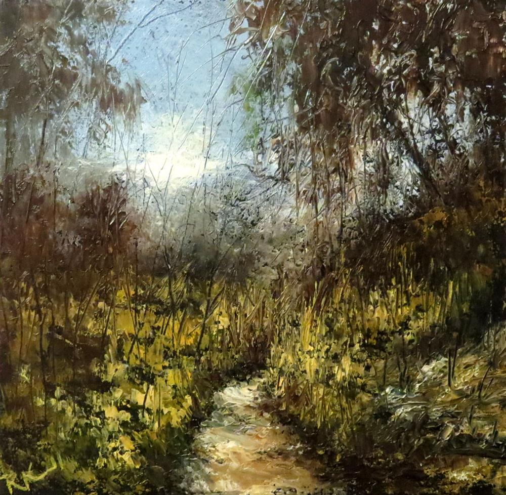 """A Path Through the Woods"" original fine art by Bob Kimball"