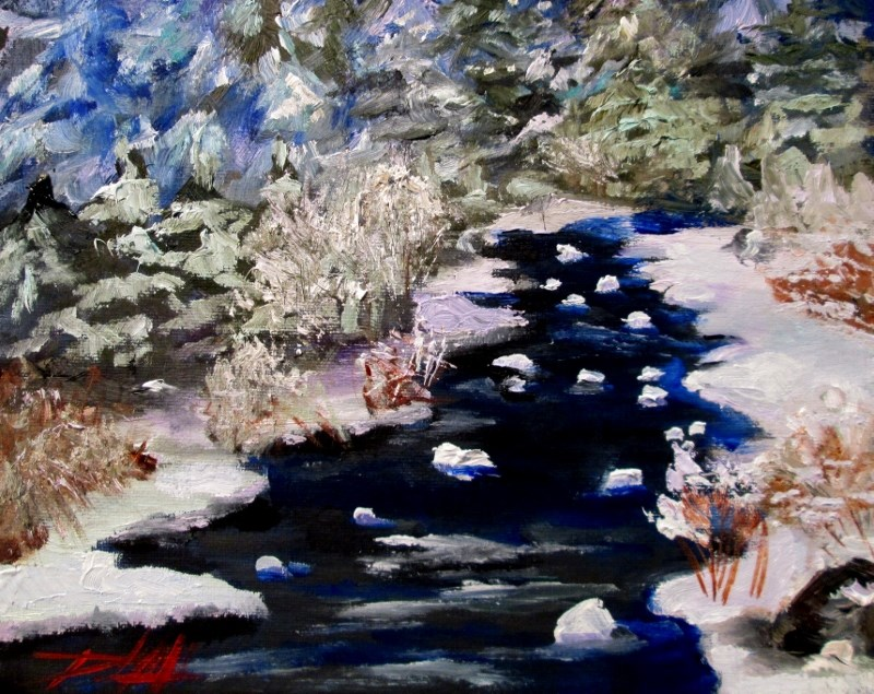 """Snowscape"" original fine art by Delilah Smith"