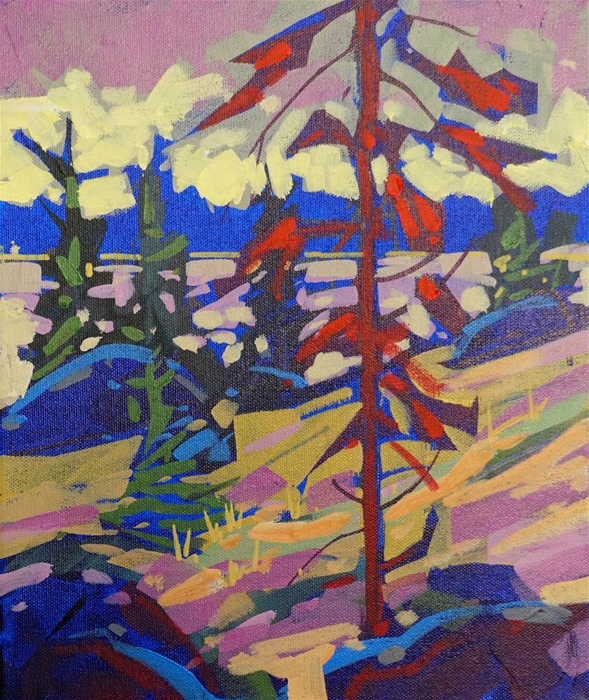 """Shoreline in Primaries"" original fine art by Brian Buckrell"