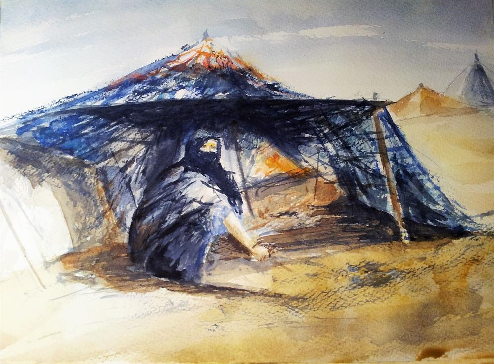"""SAHARA...WAITING FOR..."" original fine art by Ferran Llagostera"