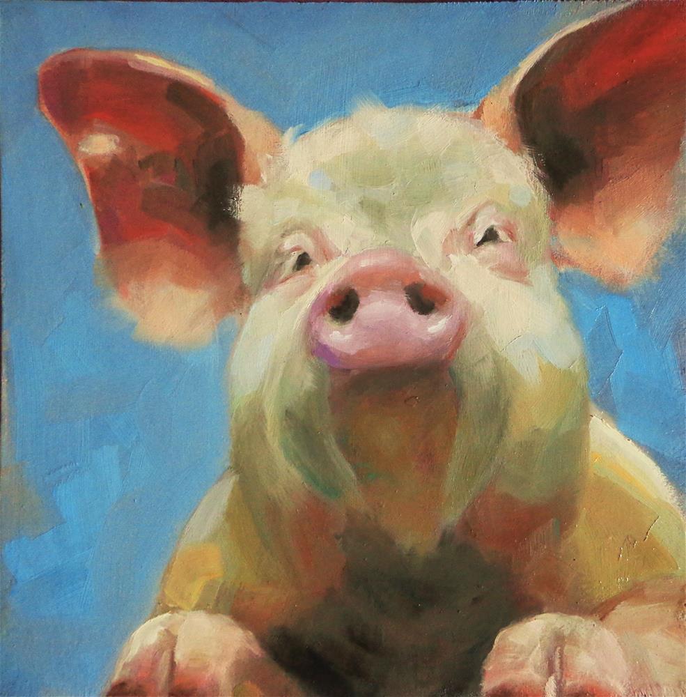 """Big ears"" original fine art by Maria Z."