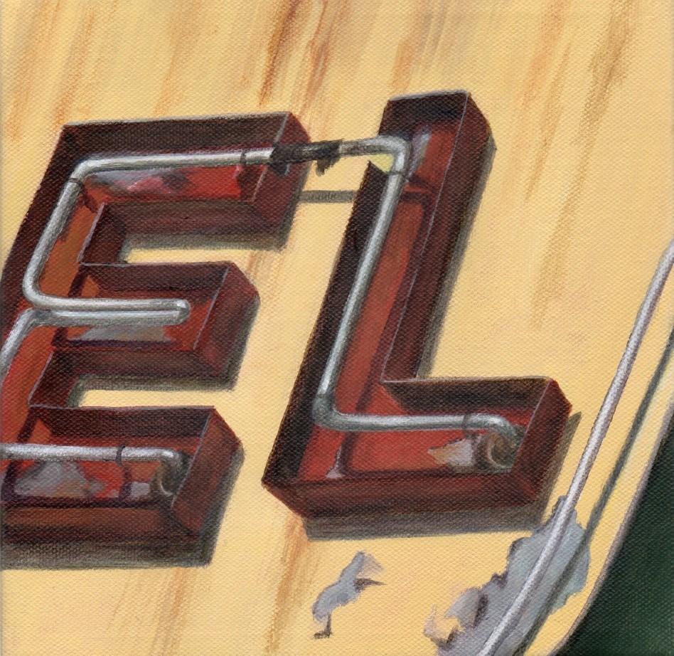 """""""Neon El"""" original fine art by Debbie Shirley"""