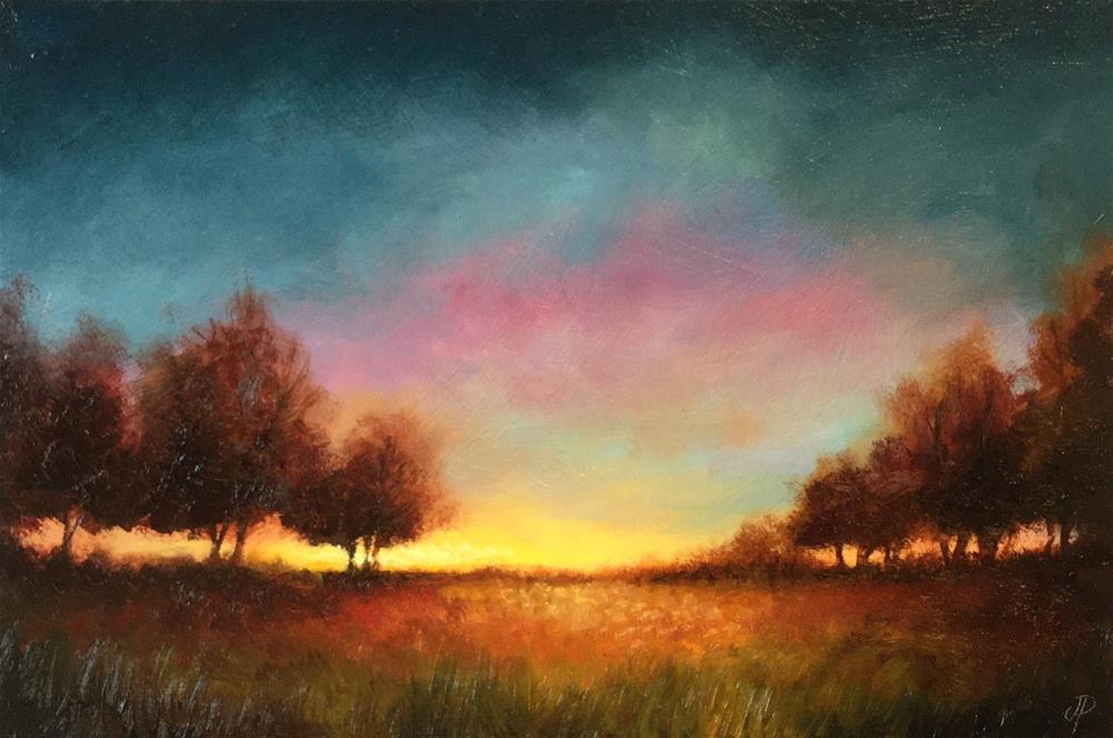 """Autumn Glow"" original fine art by Jane Palmer"