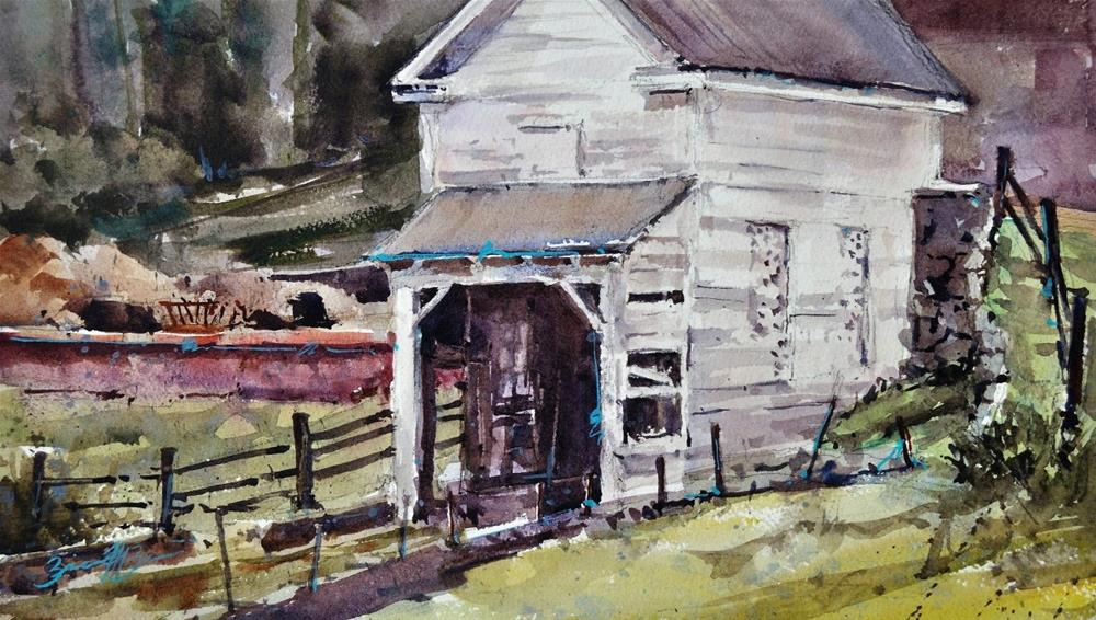"""Androssen Shed"" original fine art by Brienne M Brown"