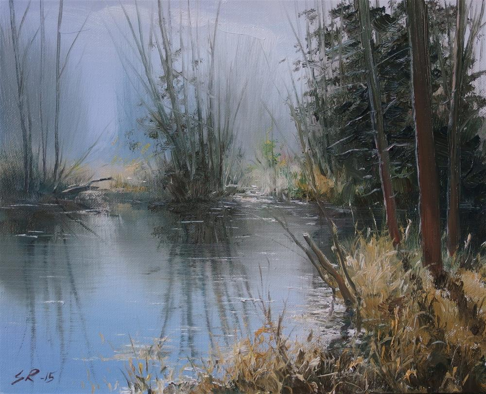 """Peaceful waters"" original fine art by Stig Rosenlund"