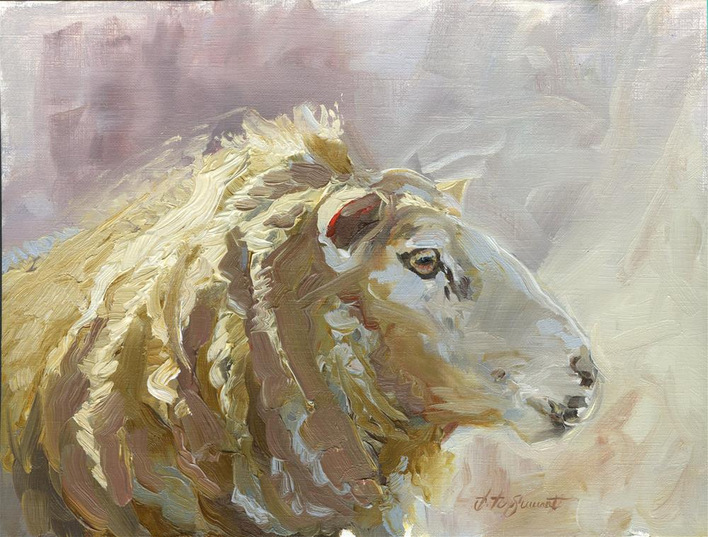 """Sheep"" original fine art by B. Rex Stewart"