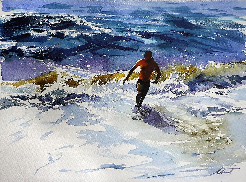 """run Robert run!"" original fine art by Beata Musial-Tomaszewska"