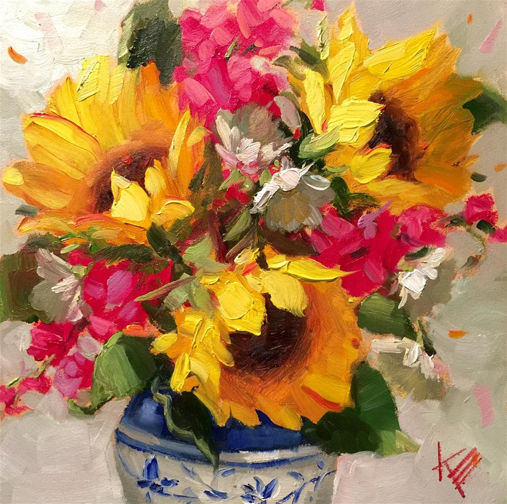 """Cheerful"" original fine art by Krista Eaton"