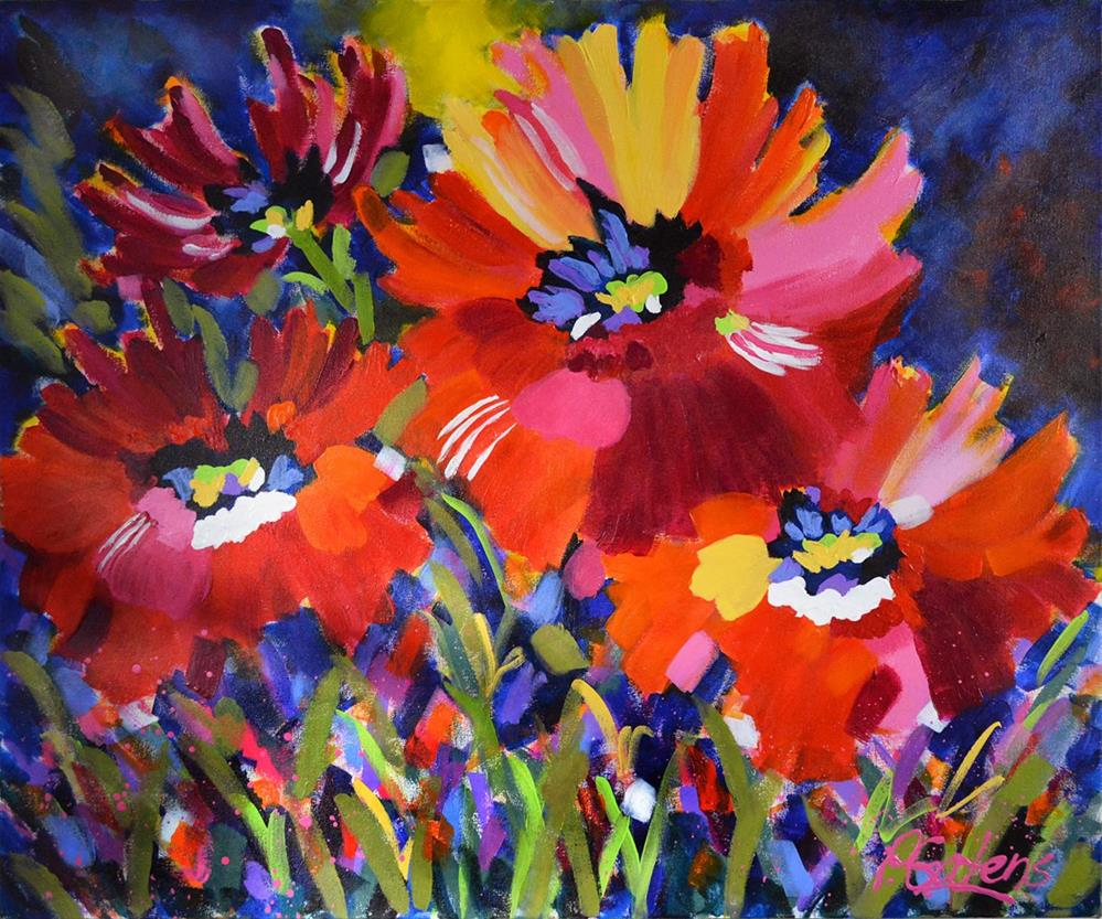 """Greenbrier Poppies"" original fine art by Pamela Gatens"
