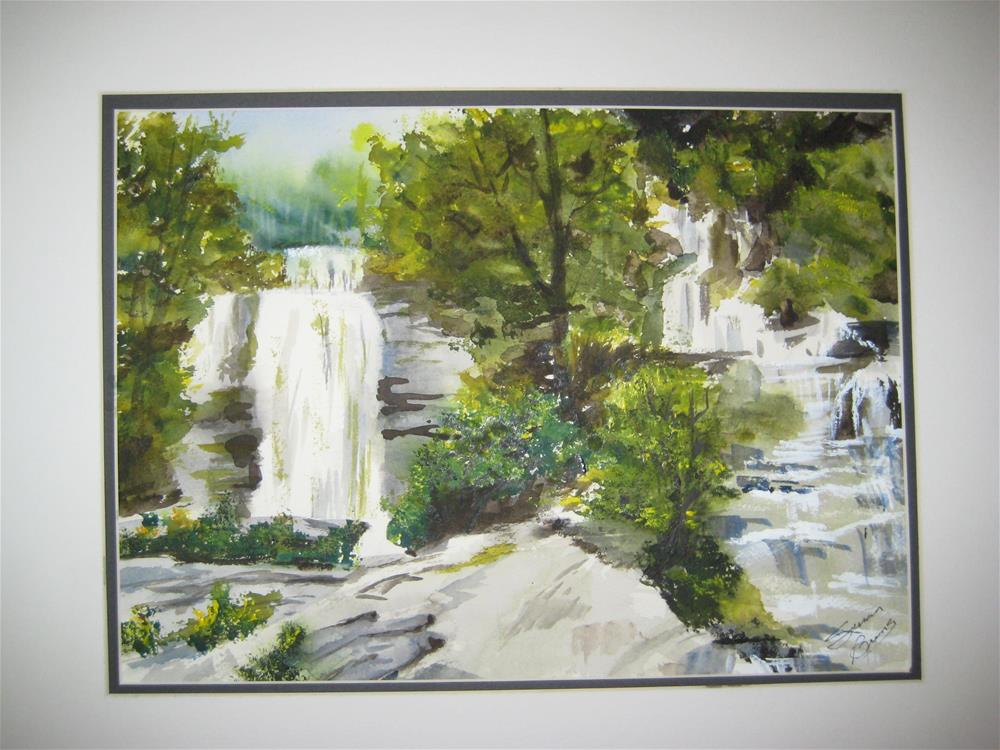 """South Carolina Waterfall"" original fine art by Susan Brens"