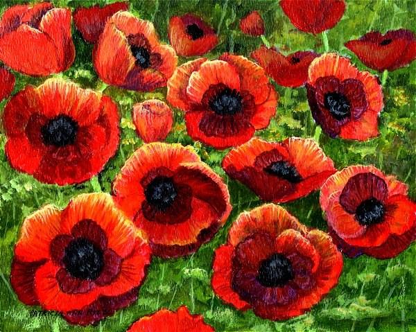 """The Poppy Field"" original fine art by Patricia Ann Rizzo"