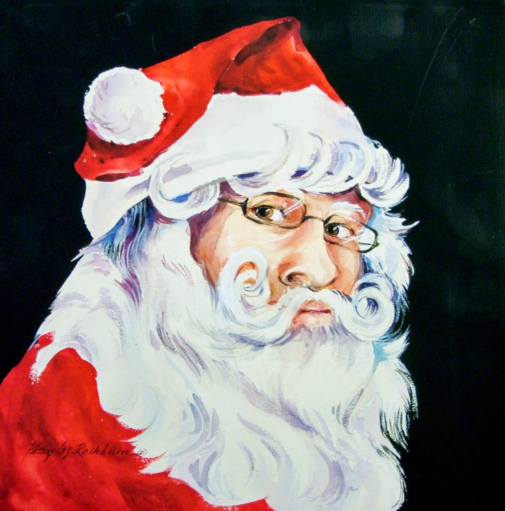 """Santa Claus is Coming to Town"" original fine art by Kathy Los-Rathburn"