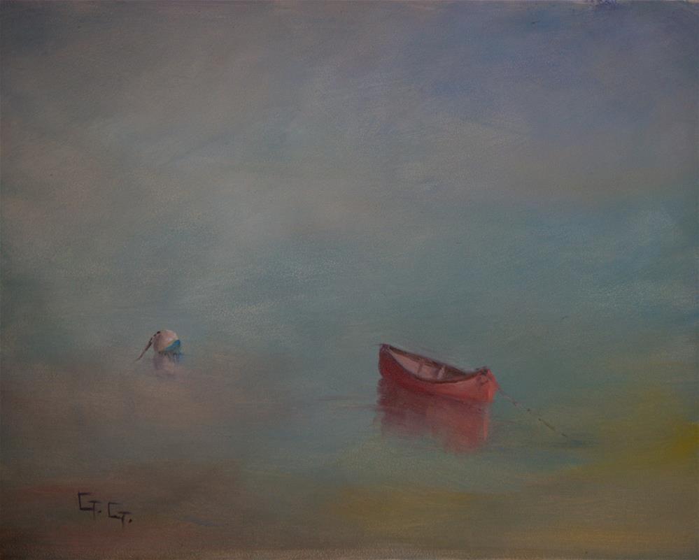 """Morning on the Water"" original fine art by G. G. Slockett"