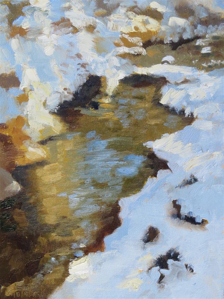 """Bear Creek Snow"" original fine art by Pam Holnback"