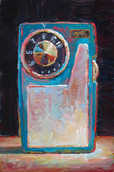 """Transistor Radio"" original fine art by Raymond Logan"