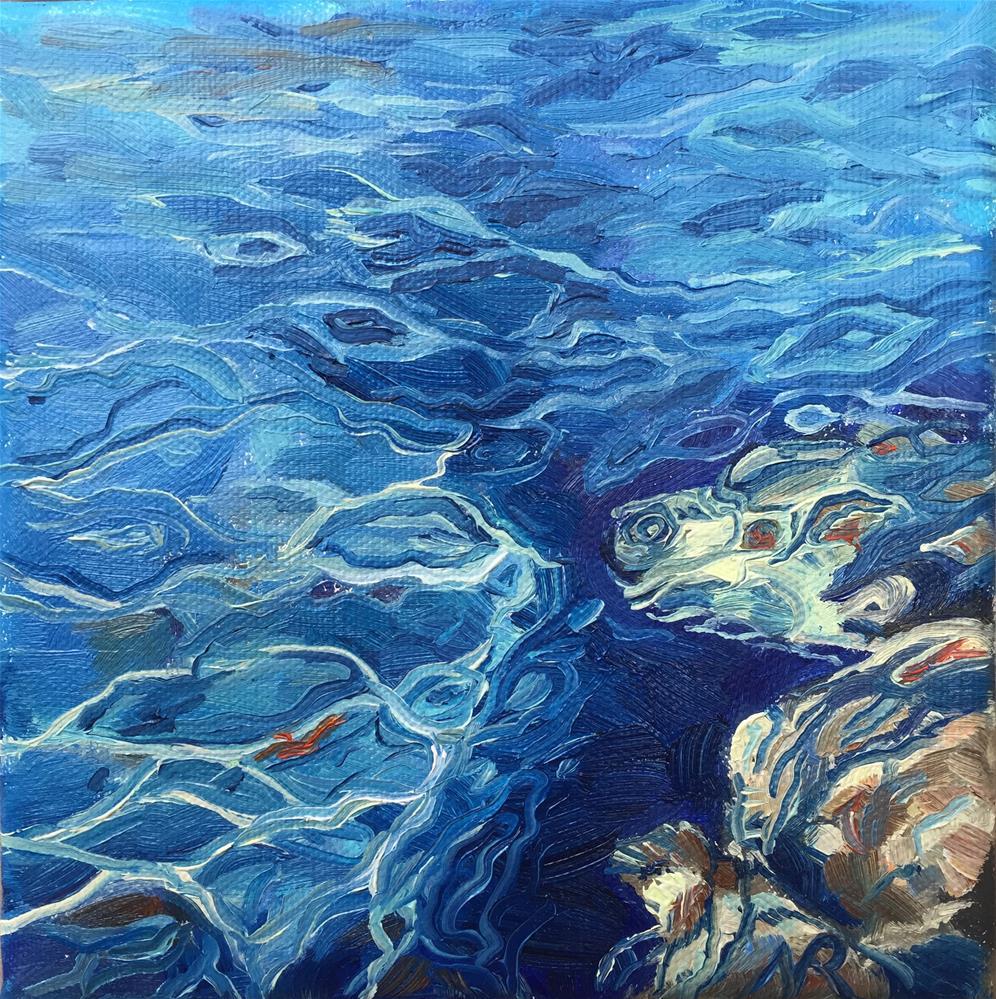 """Water reflections"" original fine art by Natasha Ramras"
