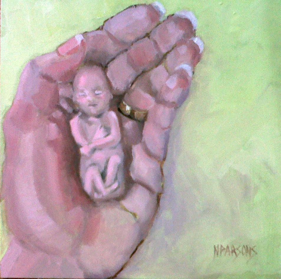 Mini Munchkin original fine art by Nancy Parsons