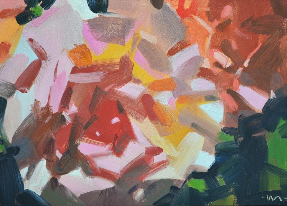 """Circus Roses"" original fine art by Carol Marine"