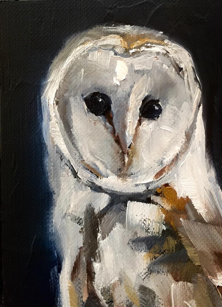 """Barn Owl III"" original fine art by Gary Bruton"