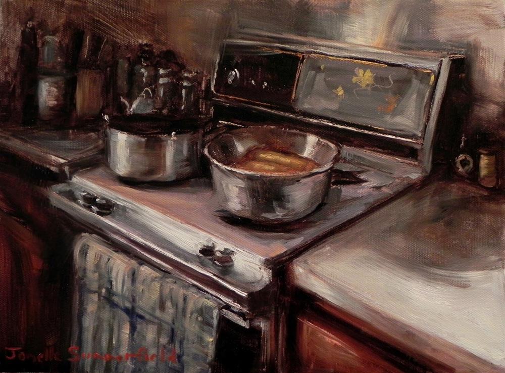 """""""Vintage Kitchen"""" original fine art by Jonelle Summerfield"""