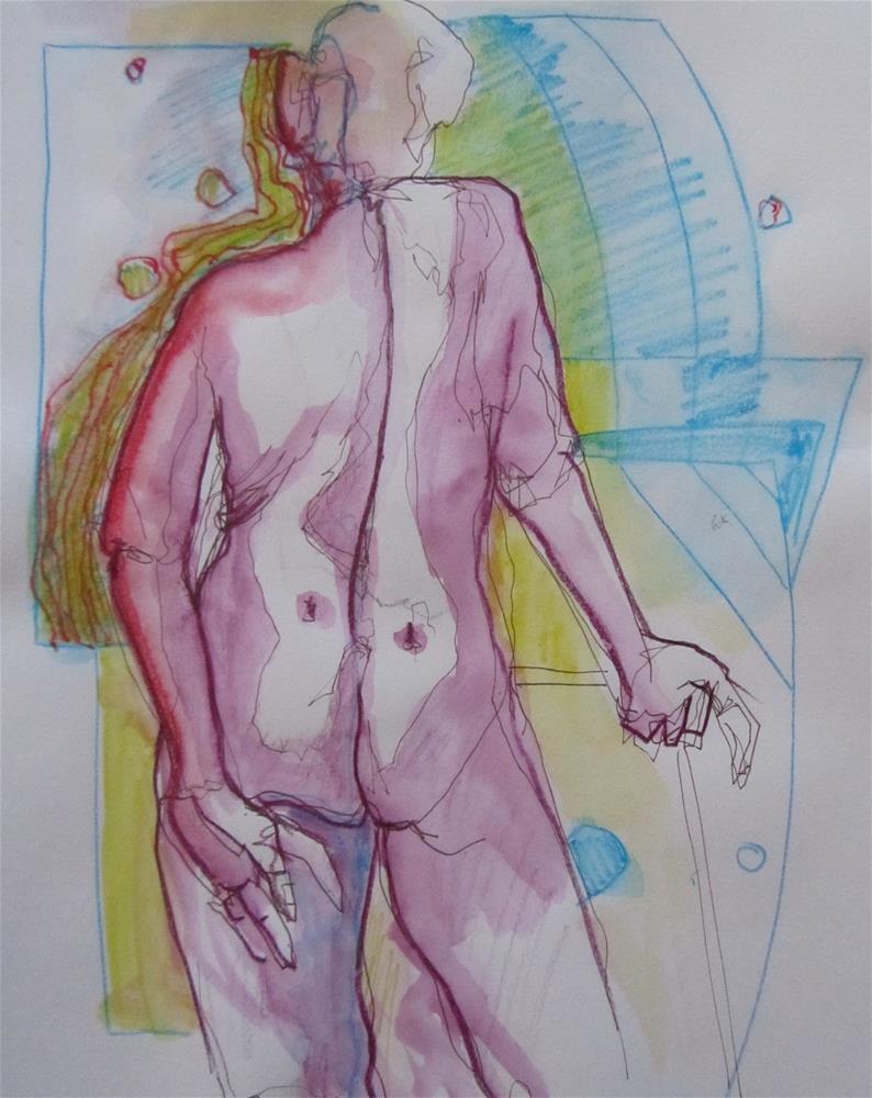 """Sketchbook Figure Study #9"" original fine art by Patricia MacDonald"