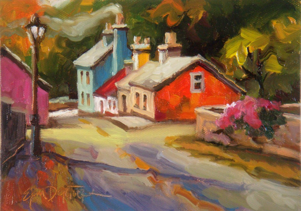 """Itty Bitty Ireland"" original fine art by Erin Dertner"