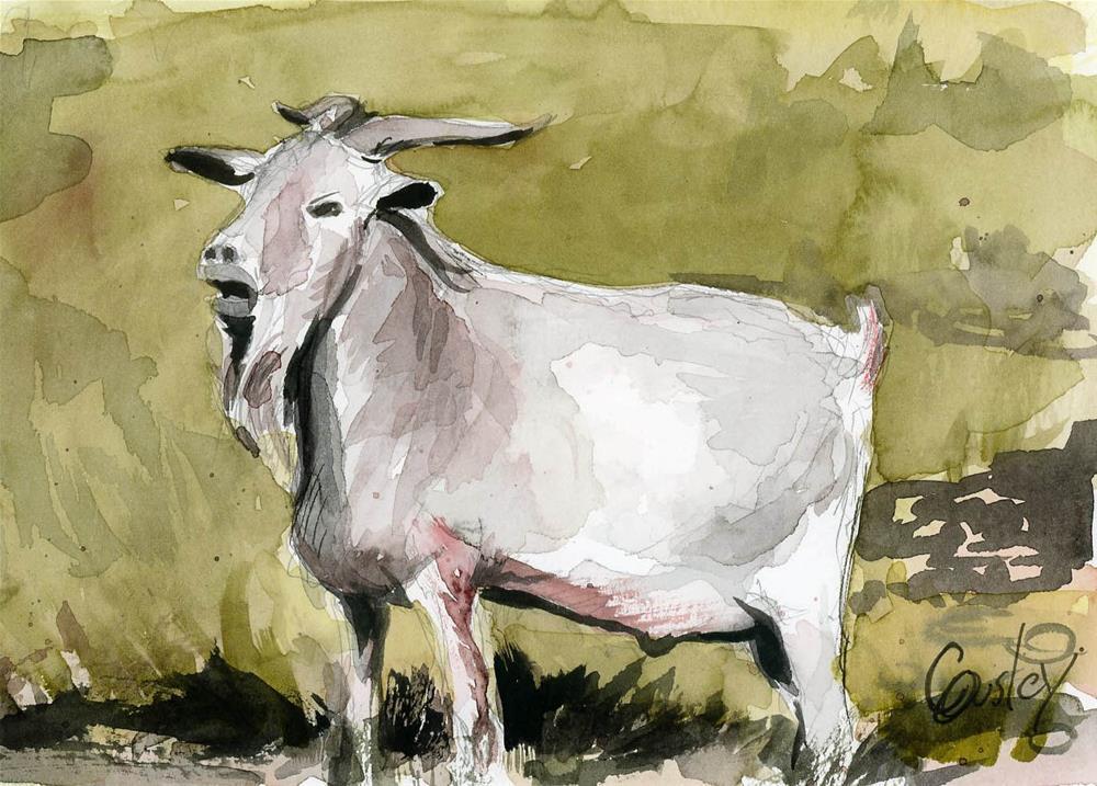 """Billy Goat Gruff"" original fine art by Chris Ousley"