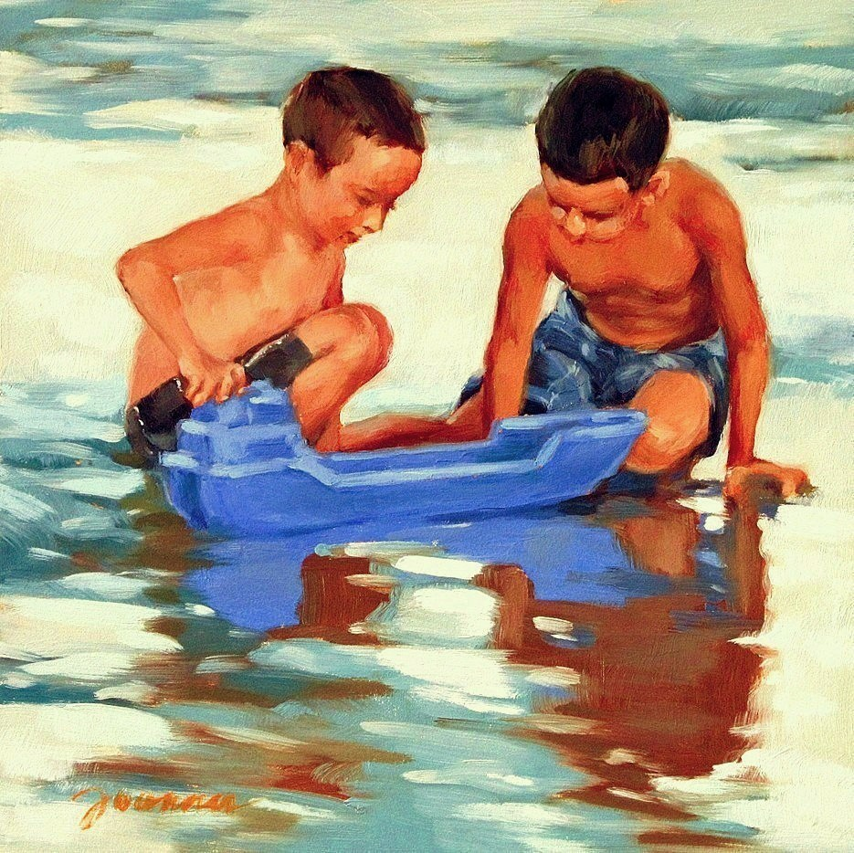 """Docking"" original fine art by Joanna Bingham"