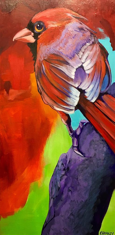 """Cardinal Zen"" original fine art by Katherine Hambley"