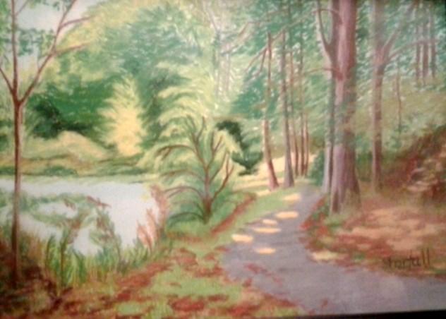 """Park Path"" original fine art by Elaine Shortall"