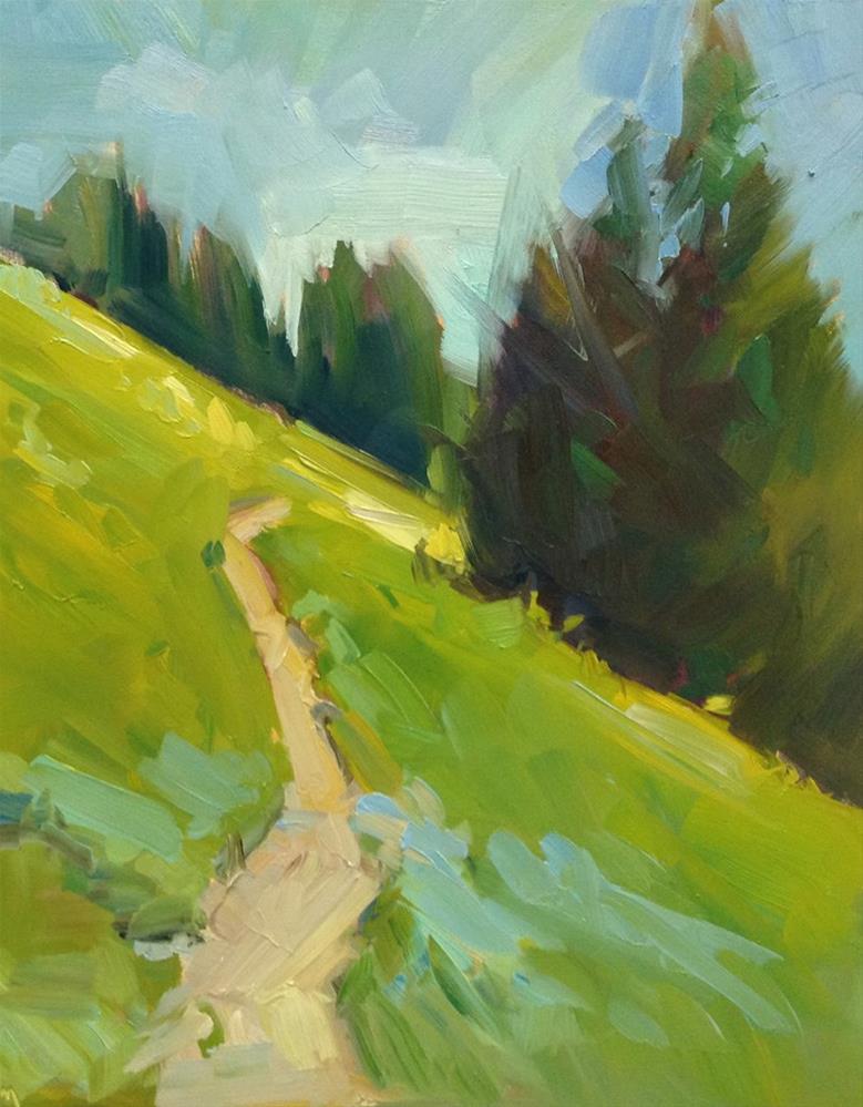 """Browder Mountain Greens"" original fine art by Patti McNutt"