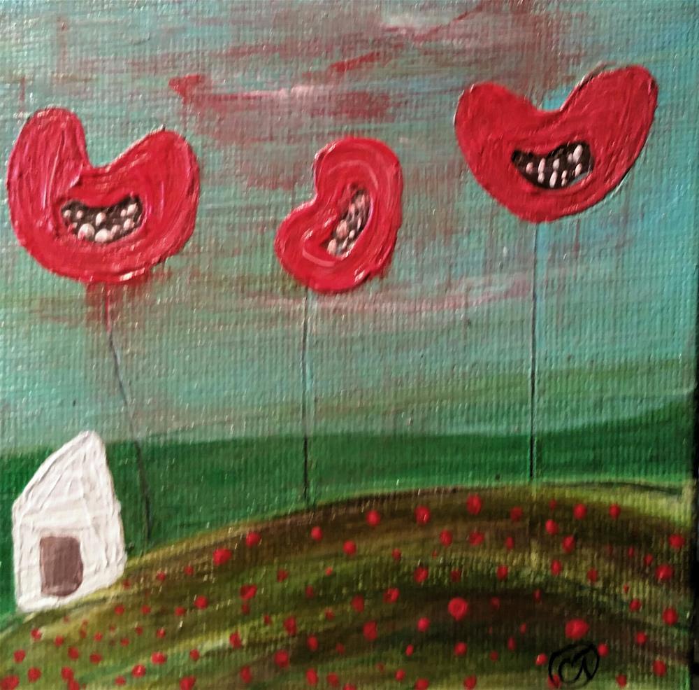 """Poppy Lane 8 House #128"" original fine art by Christy Tremblay"