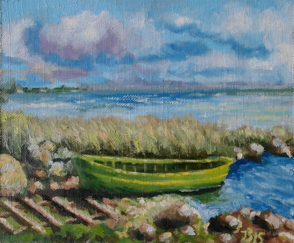 """the boat"" original fine art by Juri Semjonov"