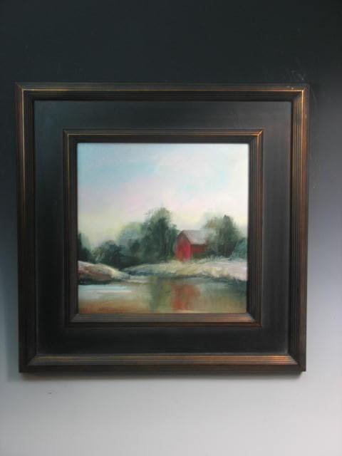 """""""A Wonderful Memory:  12 x 12 with 4 inch frame custom"""" original fine art by Brenda Kollman"""