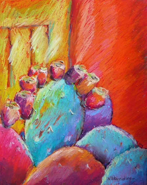 """Texas Cactus 12050  SOLD"" original fine art by Nancy Standlee"