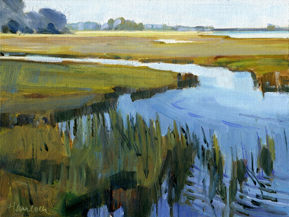 """Marsh"" original fine art by Gretchen Hancock"