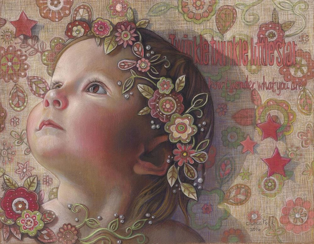 """""""&quote;listening to Mozart&quote;"""" original fine art by emily Christoff-Flowers"""