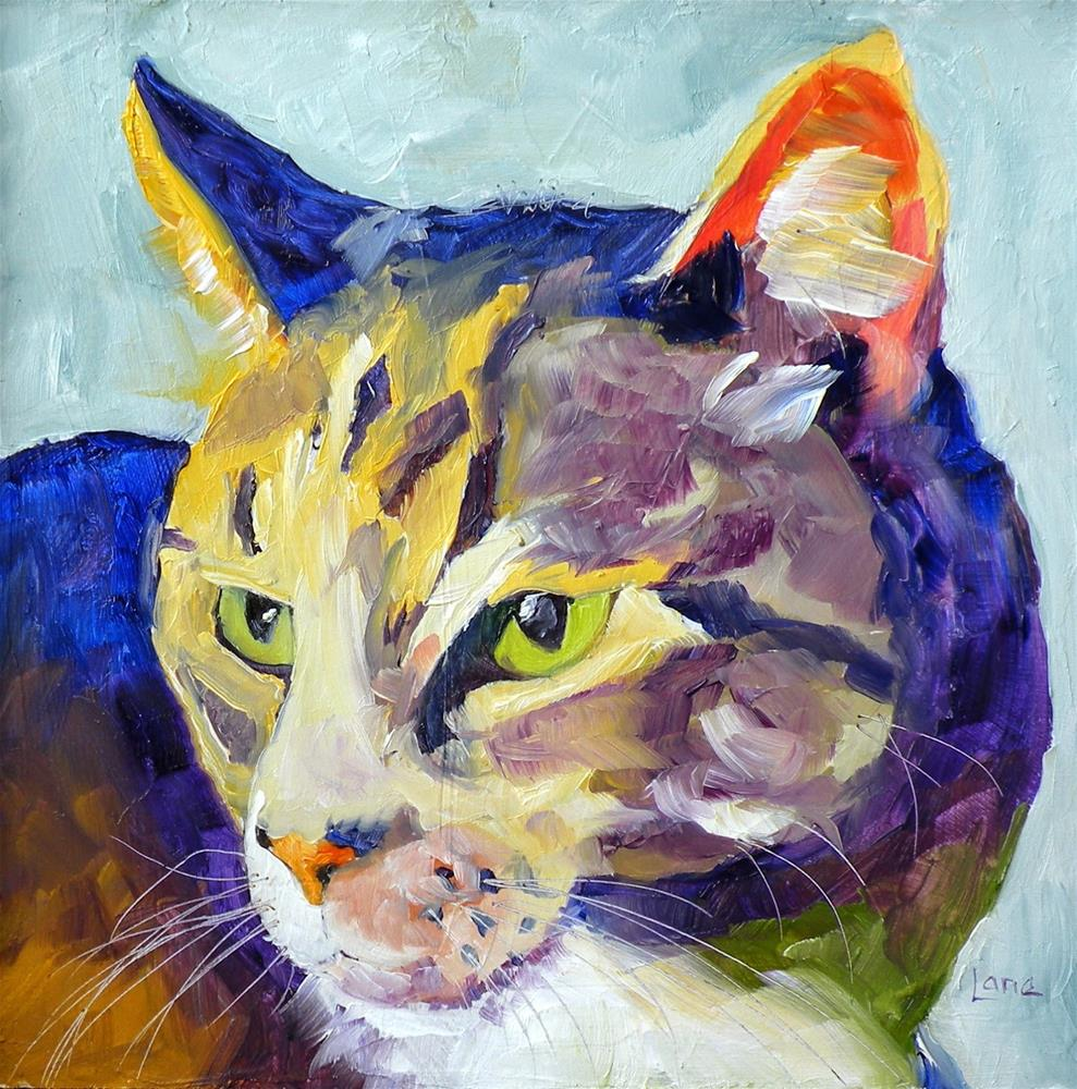 """SADIE 28/100 OF 100 PET PORTRAITS IN 100 DAYS © SAUNDRA LANE GALLOWAY"" original fine art by Saundra Lane Galloway"