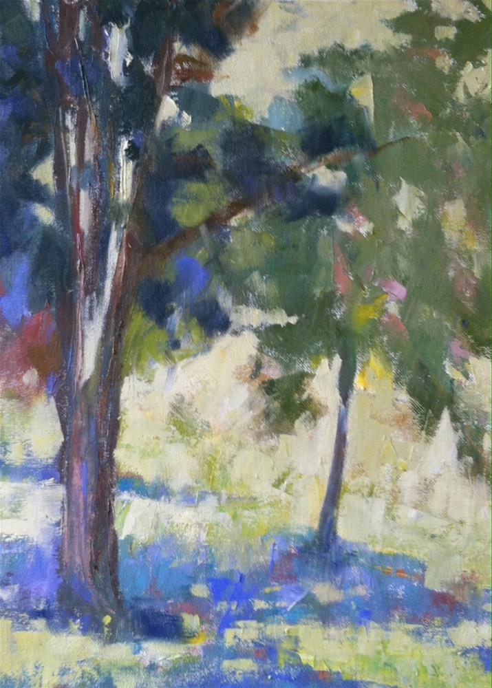 """Shade/Trees"" original fine art by Katharine March"