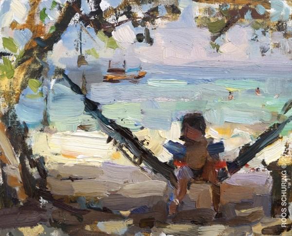 """Seascape Pleinair Asia 05 (sold)"" original fine art by Roos Schuring"